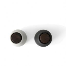 salt pepper bottle grinder menu ash carbon walnut lids top