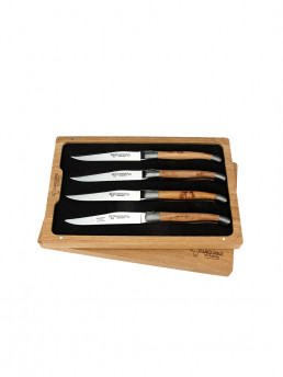steak knife juniper handle set of 4 laguiole en aubrac set in box