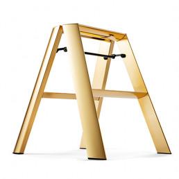 step stool 2 step ladder premium edition lucano gold