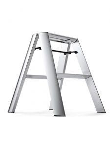 step stool 2 step ladder premium edition lucano silver