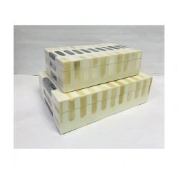 storage box set mosaic bone indigo dash kuji set
