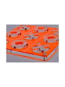 tic tac toe luxe dominoes orange