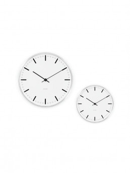 wall clock city hall arne jacobsen pair 2