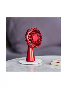 wino mini portable wireless fan lexon lifestyle red