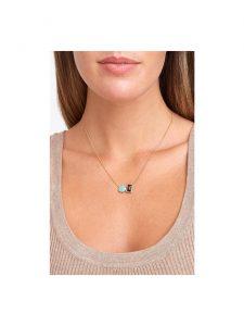chan luu amazonite garnet necklace