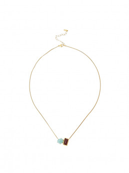 amazonite garnet necklace chan luu