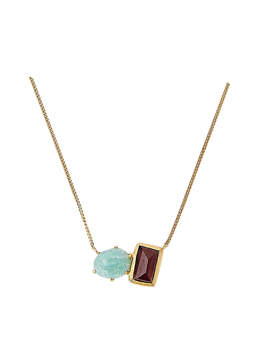 amazonite garnet necklace chan luu close
