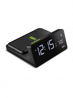 alarm clock phone charger braun with phone