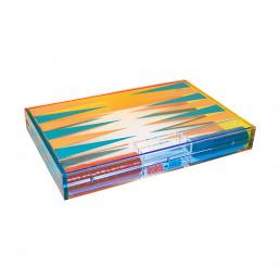 lucite backgammon set tizo multicolor closed