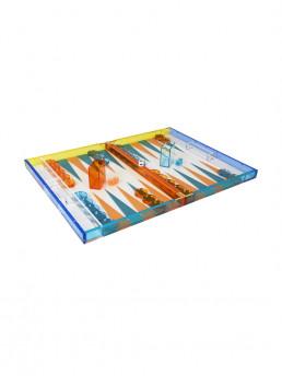 lucite backgammon set tizo multicolor open 2