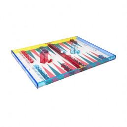 lucite backgammon set tizo turquoise hot pink open 2