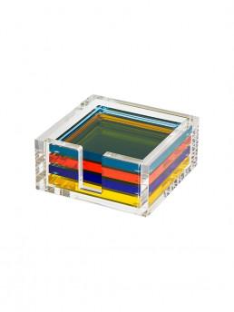 multicolor lucite coaster set 1