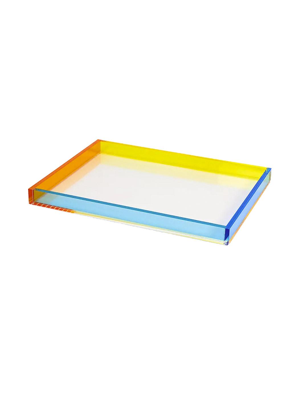multicolor lucite serving tray no shadow