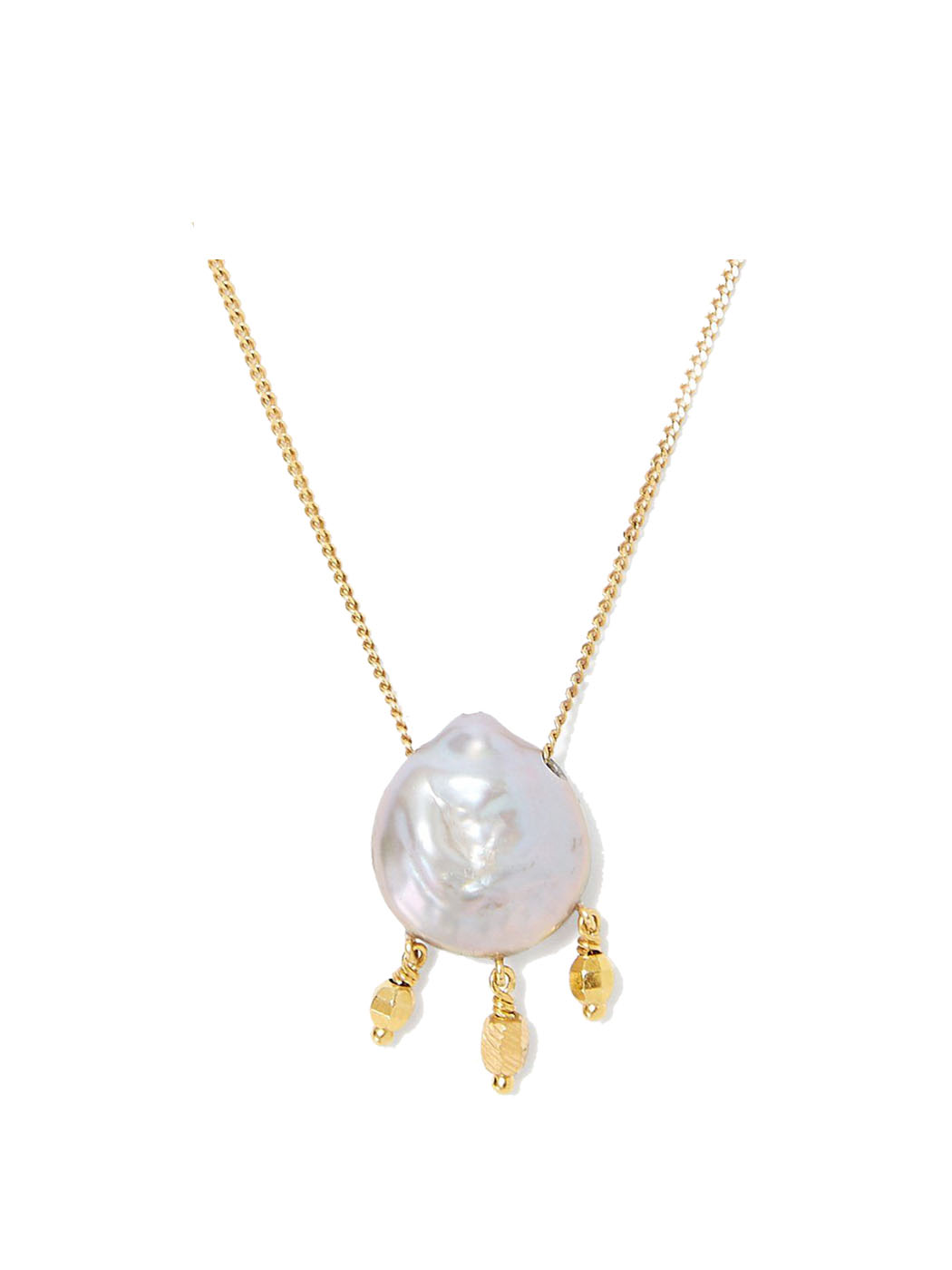 peacock pearl and floating gold necklace chan luu close 1