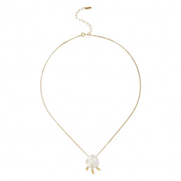 white pearl necklace chan luu
